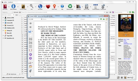 calibre ebook management software