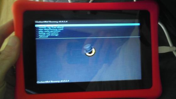 Nabi 2 tablet with ClockworkMod
