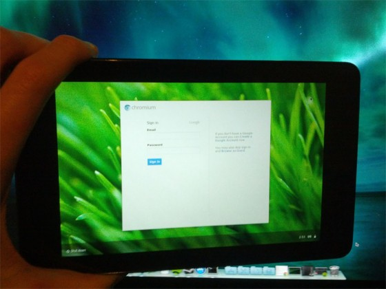 Nexus 7 running Chromium OS