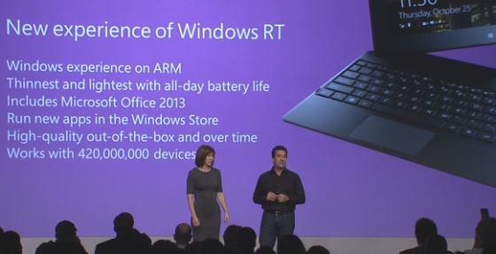 Windows RT supports 420 million peripherals