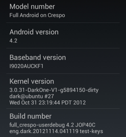 Android 4.2 Jelly Bean on the Samsung Nexus S