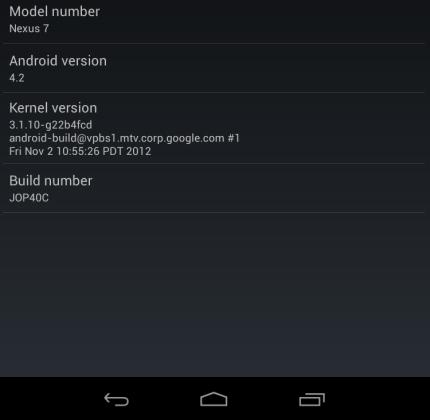 Google Nexus 7 with Android 4.2