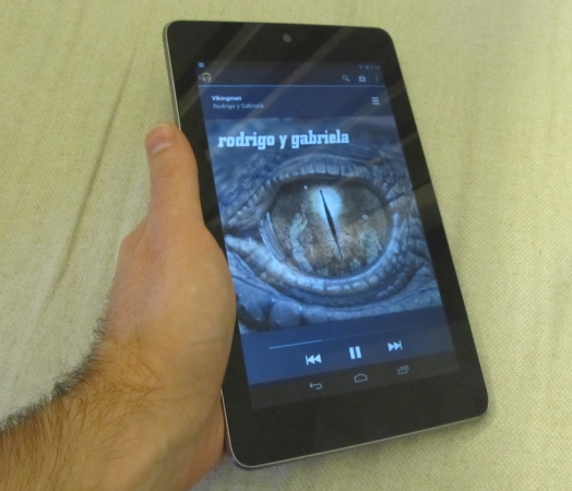 Google Nexus 7 music