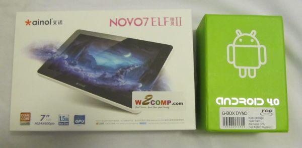 Ainol Novo Elf II and G-Box Dyno