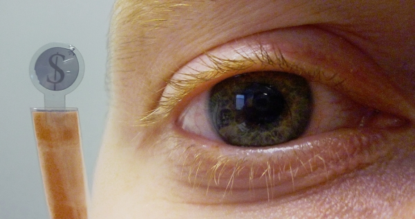 Contact Lens with LCD