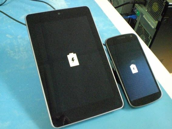 Google Nexus 7 with Palm Touchstone