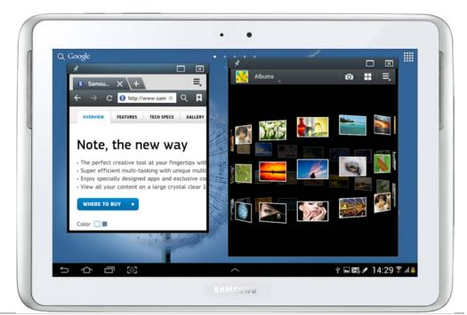 Samsung Galaxy Note 10.1 with Android 4.1