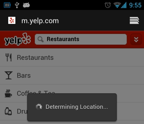 Determining location (Android)