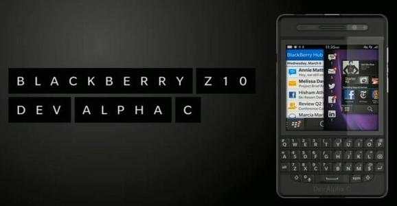 BlackBerry Z10 Dev Alpha C