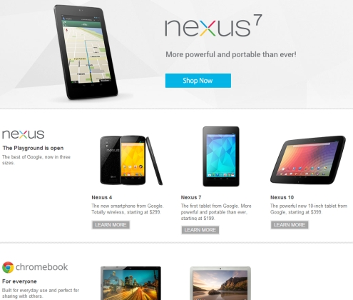 Google Play Store devices