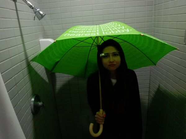 Google Glass in the shower