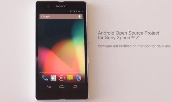 Sony Xperia Z AOSP