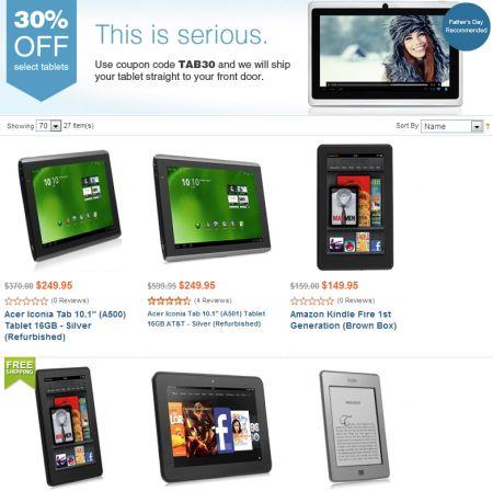 All4Cellular 30-percent off tablets