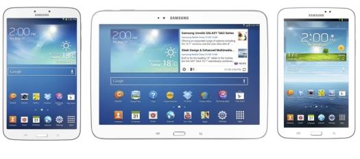 Samsung Galaxy Tab 3 family