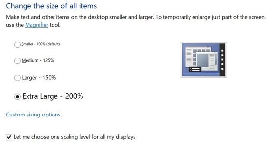 Windows 8.1 HD display