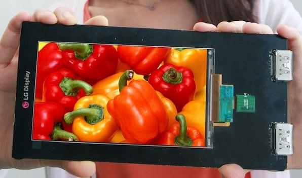 LG Quad HD display