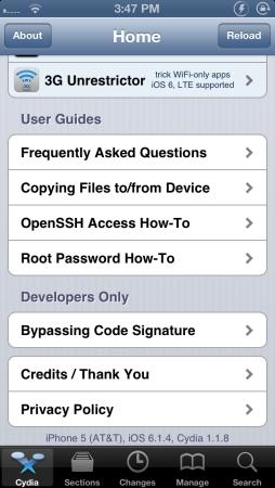 iOS 6.1.4 jailbroken