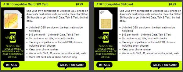 Straight Talk SIM cards