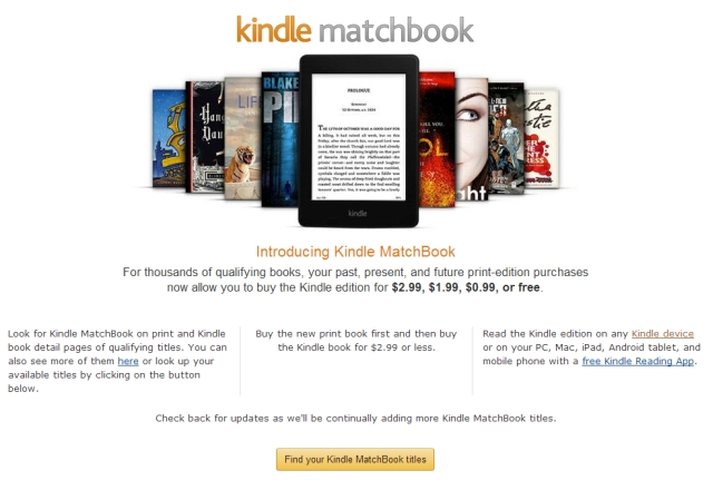 Amazon Kindle MatchBook