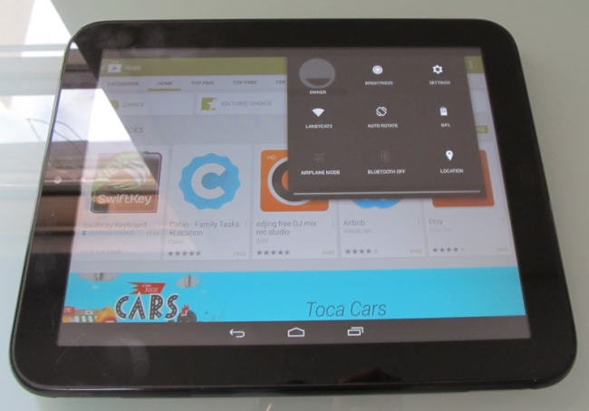 HP TouchPad with Android 4.4 KitKat