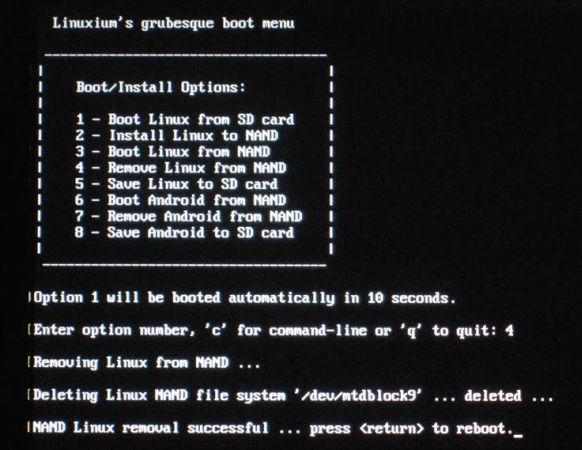 linuxium bootloader