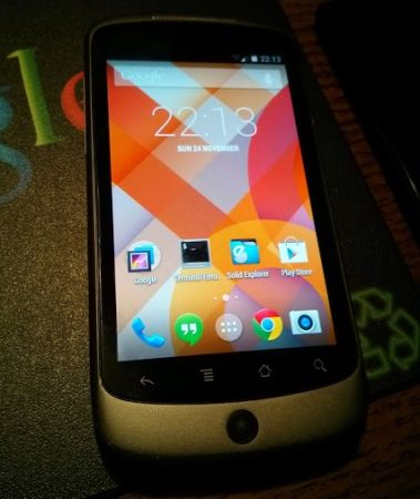 Google Nexus One with Android 4.4 KitKat