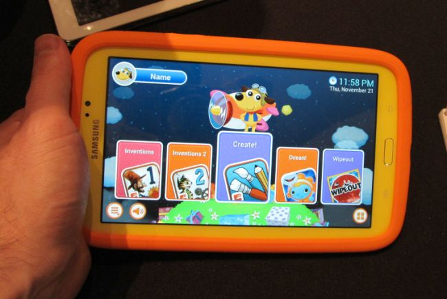 hands on with the samsung galaxy tab 3 kids tablet video. Black Bedroom Furniture Sets. Home Design Ideas