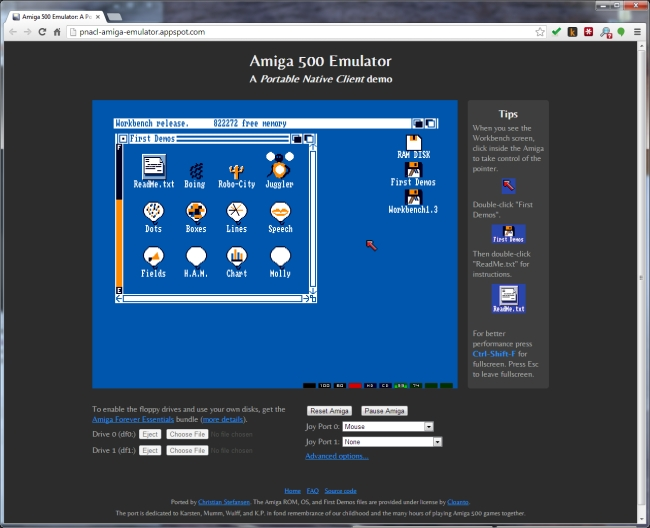 Amiga emulator