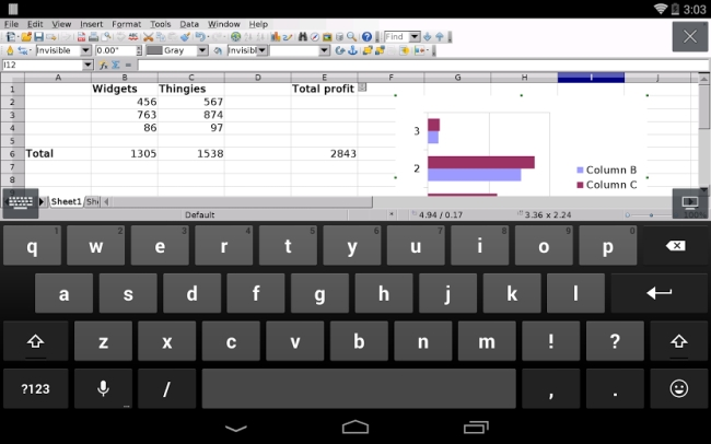 Andropen office is a full office suite for android based - Open office android tablette ...