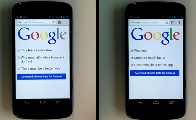 Google Chrome 32 Beta for Android