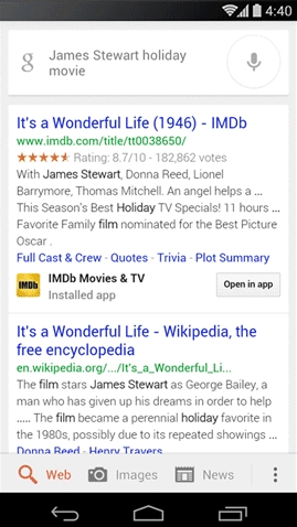 Google Search in apps