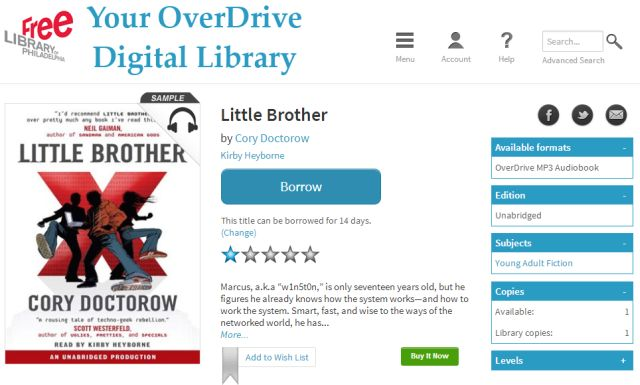Free Library of Philadelphia / OverDrive
