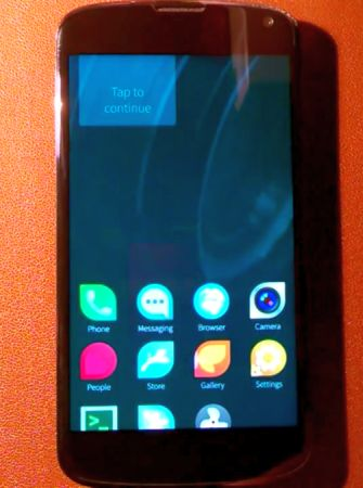 Google Nexus 4 with Sailfish