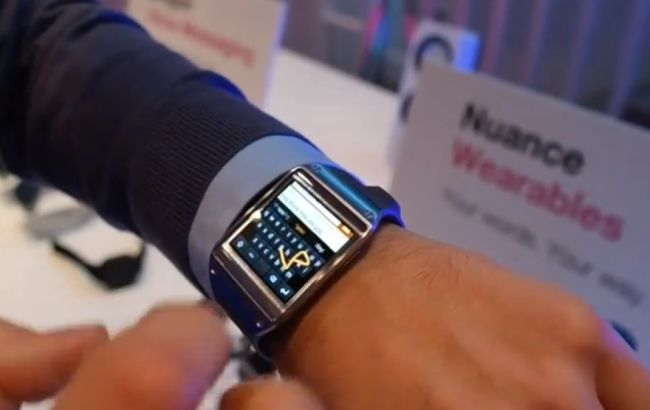 Nuance Swype on a smartwatch