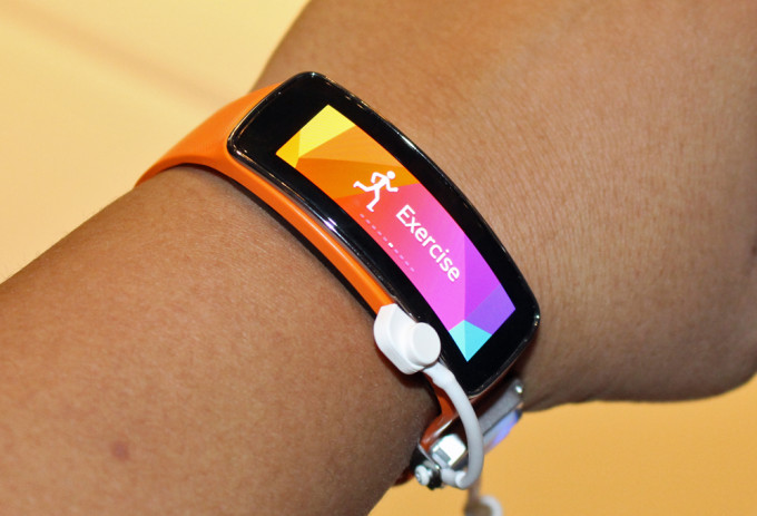 Samsung Galaxy Gear Fit exercise