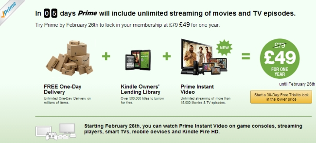 Amazon Prime Instant Video in the UK
