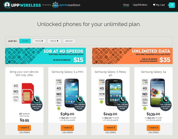 Uppwireless Offers Cellular Plans For 15 And Up Liliputing