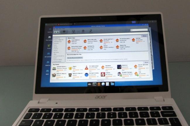 acer c720p ubuntu software center
