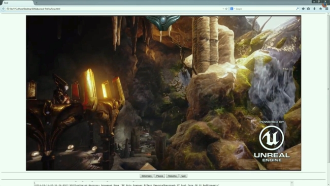 Unreal Engine 4 in Firefox