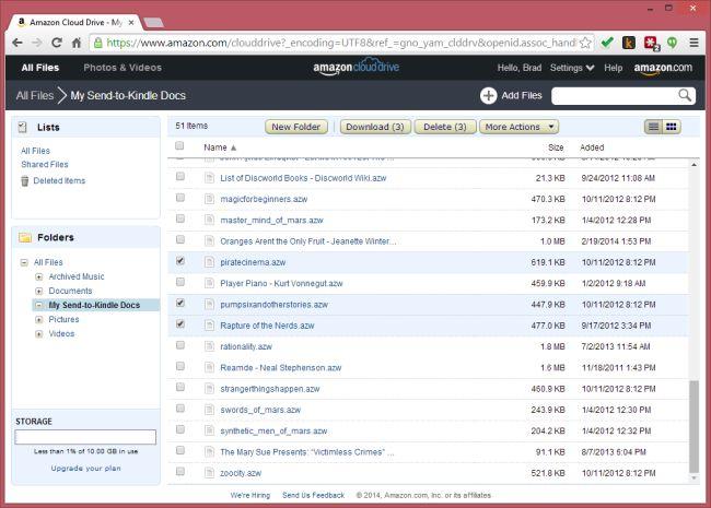 Amazon Kindle Docs