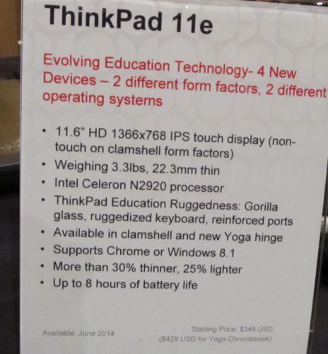 First Look Lenovo Thinkpad 11e Chromebook And Yoga Tablet
