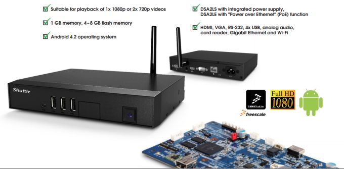Shuttle's first ARM-based mini PC (for digital signage) on