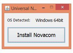 tp install novacom