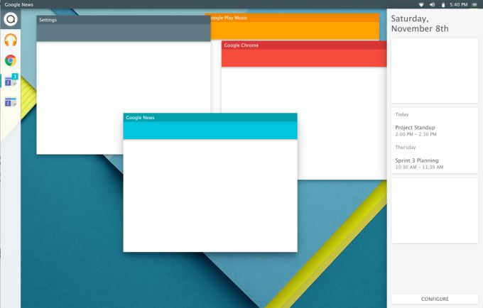Google Material Design Desktop Ideas
