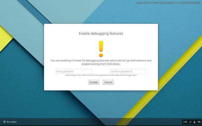 debugging chromebook
