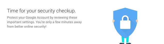 Google Security Checkup 1