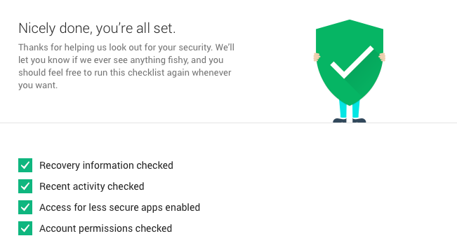 Google Security Checkup 3