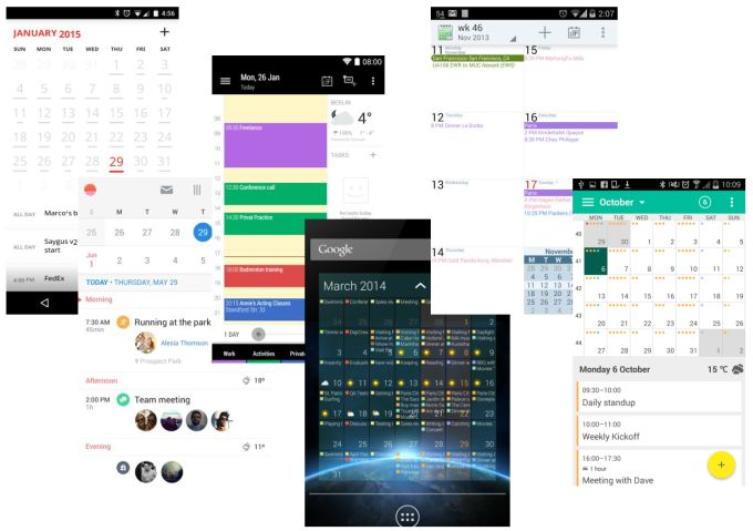 how to create a calendar app for android