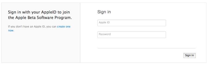Apple Public Beta Program Sign Up