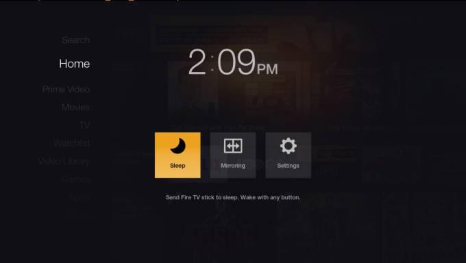 fire tv stick menu